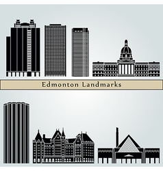 Edmonton landmarks and monuments vector