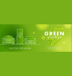 Electro power green energy symbol and linear vector