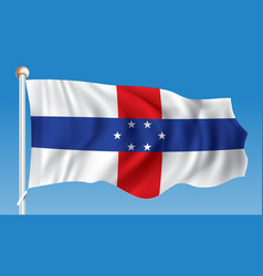 Flag of netherlands antilles vector