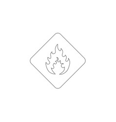 flammable material flat icon vector image