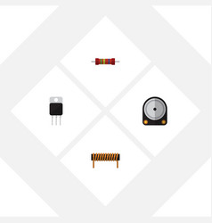Flat icon technology set of receiver bobbin vector