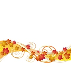 Flying autumn leaves background vector