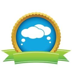 Gold dialog logo vector
