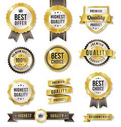 golden commercial labels vector image