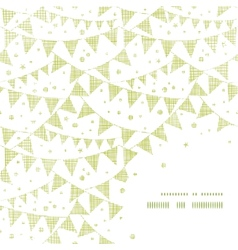 Green Textile Party Bunting Frame Corner Pattern vector