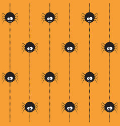 Halloween seamless pattern with spiders vector