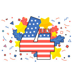 happy 4th july concept independence day vector image