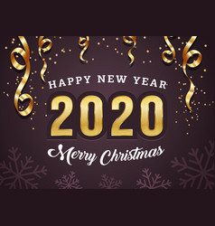 happy new year postcard template december vector image