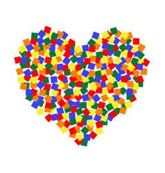 heart lgbt color pixel art lgbt community vector image