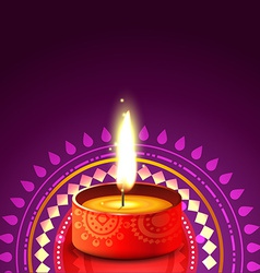 hindu festival background of diwali vector image