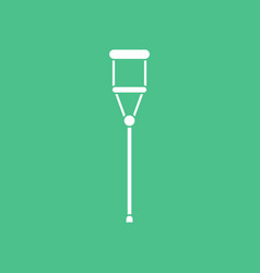 Icon medical crutch vector
