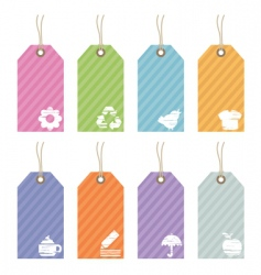 icon tags vector image vector image