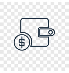 income concept linear icon isolated on vector image