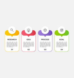 Infographic design with icons and 4 options or vector