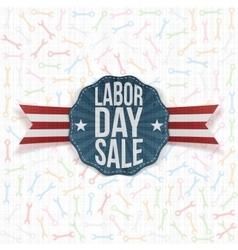 Labor Day Sale realistic Label vector image