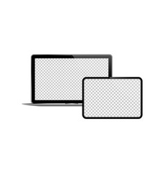 Laptop and tablet icon on isolated background new vector