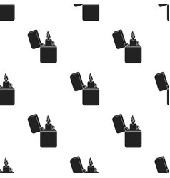 Lighter icon in black style isolated on white vector
