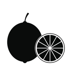 Lime icon simple style vector