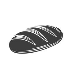 Loaf bread glyph icon vector