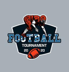 Logo design football tournament 2020 vector