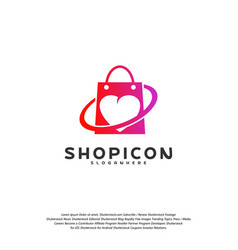 love shop logo template design vector image