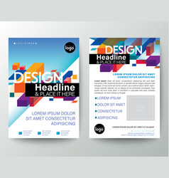 Modern brochure cover flyer poster design layout vector
