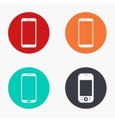 modern smartphone colorful icons set vector image
