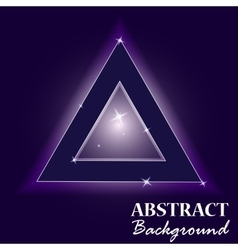 Neon abstract triangle glass in the starry sky vector image