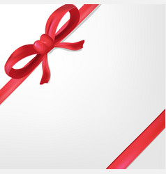 red ribbon white background gift vector image