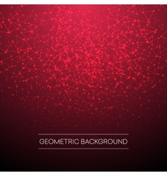 Red triangle connection abstract background vector image