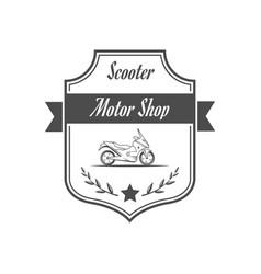retro motor shop vector image