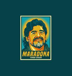 Rip maradona vector
