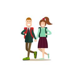 school children concept in vector image