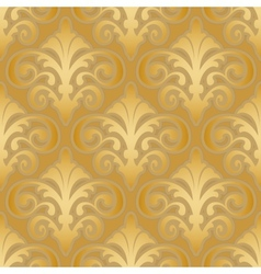 Seamless gold silk wallpaper pattern vector