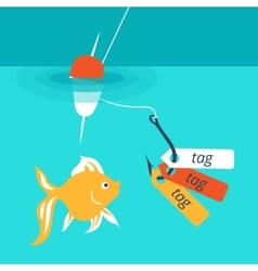 showing a catchy tag vector image