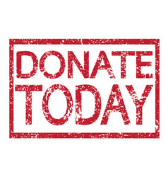 stamp text donate today vector image