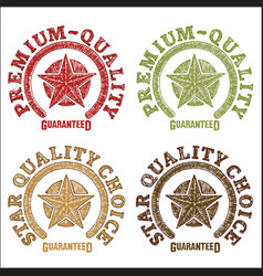 Star quality seals drawn by hand vector
