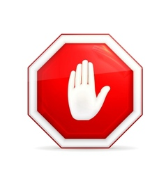 Stop sign vector image