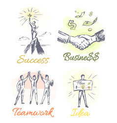 Success and business posters vector
