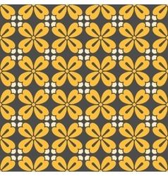 Symmetric geometric floral pattern vector
