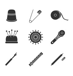 Tailoring glyph icons set vector