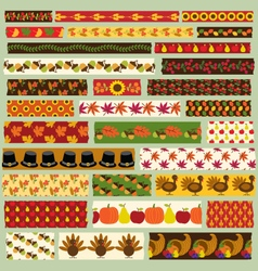 thanksgiving washi tape clipart vector image vector image