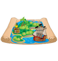 Treasure map topic image 6 vector
