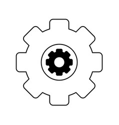 Two gears icon image vector