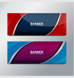 web banner curve design vector image