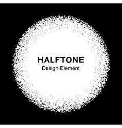 White Abstract Halftone Dots Circle vector image