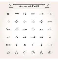 Big set arrows vector image