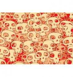 cool skulls vector image
