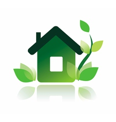 eco home icon isolated symbol vector image
