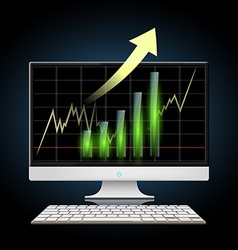 Graph of growth Stock vector image
